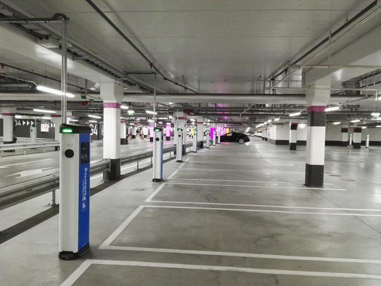 eVolve Smart Bollard in Car Park
